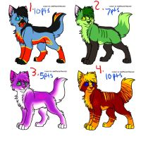 Wolf pup point adopts-CLOSED by DarkChocaholic
