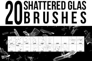 20 Shattered Glas Brushes by stockgorilla