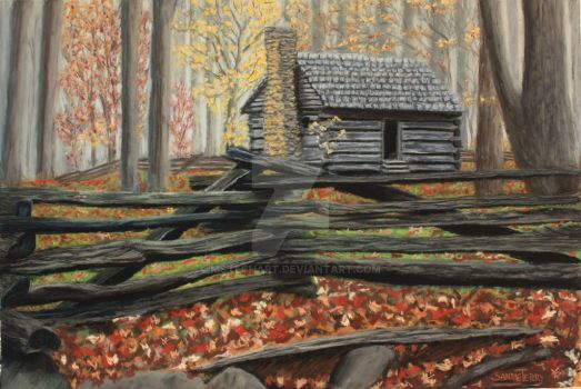 Smoky Cabin by MsTechArt