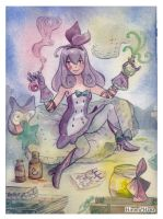 Watercolor: Potion verte ou rouge by hiromihana