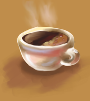 food art: a Cup of coffee. by zoiocen