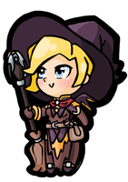 Chibi Mercy Witch by Tassji-S