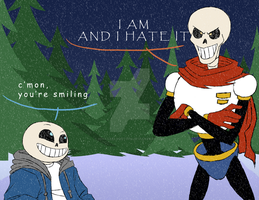 Undertale-Sans and Papyrus by HinataElyonToph