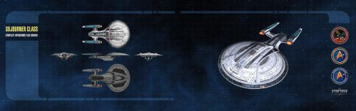 Sojourner Class Starship Dual-Monitor Wallpaper by thomasthecat
