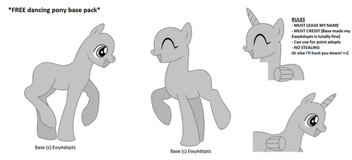 FREE base 01 - MLP pony party by EwyAdopts