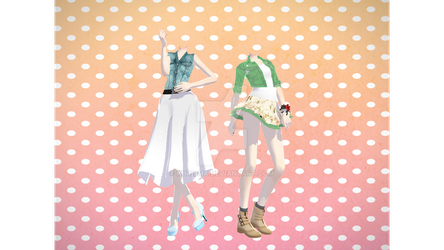 MMD Outfits 2 -DL- by KhrisMx