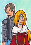 Claris and Leon sketchcard by StineTheKitty
