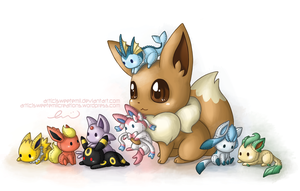 Eevee and Friends by SweetEmii