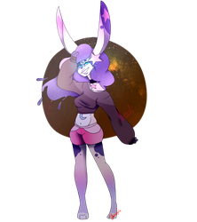 Celestial Bunny :commission: by Illiterate-Swine