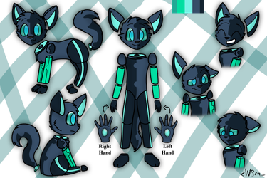 Recon Ref Sheet (Robo cat) by nickdog1012