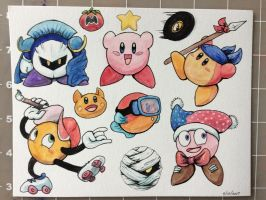 Kirby and Friends (and Enemies) by Flame-Shadow