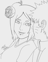 Naruto and Konan: ILY Outline by MegaDarkly