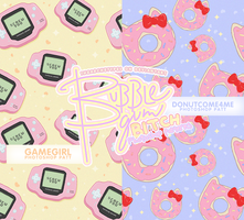 Bubblegum Bitch || PHOTOSHOP PATTERNS by Thearchetypes