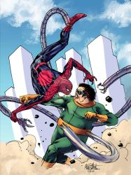Spider-Man vs Doc Ock - Tofu the Bold colors by SpiderGuile