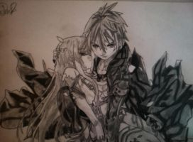 Sword Art Online - Kirito and Asuna by MonkeyDDante