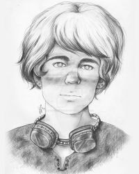 Steampunk Boy with Special Eyes by MsAlayniousCreations