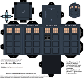 Cubee - TARDIS (13th Doctor) by CyberDrone