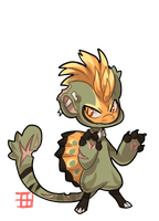 #1113 Bagbean - Sprout - Spinosaurus by griffsnuff