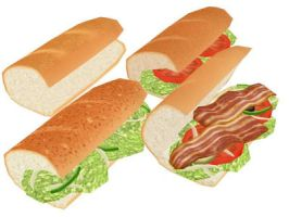 Subway sandwich PACK MMD DOWNLOAD by Hack-Girl