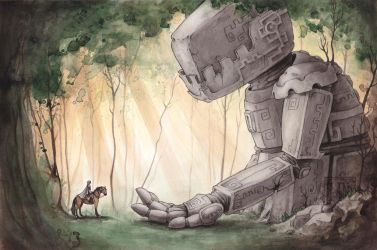Ancient Colossus by CaptainNutmeg