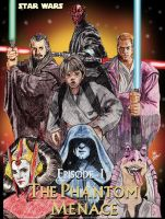 Star Wars Episode-1, The phantom menace by mrinal-rai