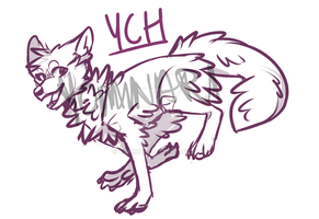 WOLF/DOG YCH [CLOSED] by Yominari