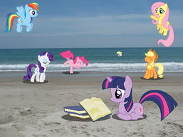 Ponies at the Beach by RDbrony16