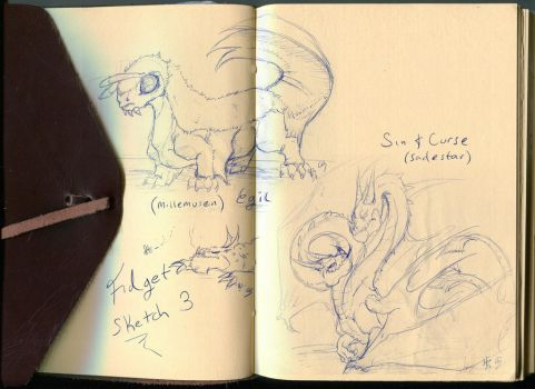HTTYD Dragon Grounds Fidget Sketch 3 by BladeGunSniper