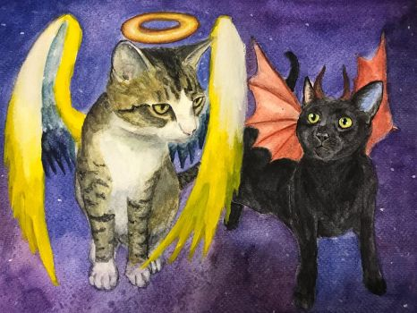 Lucipurr And Jesus by ManifestiV