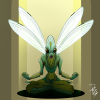 ARTJAM:30 Days of Monster Girls/Boys - Insect by HueTwo