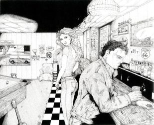 Route 66 - Bar Scenes by DocRedfield