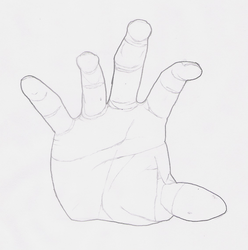 Human Hand by DarthCloakedGuy