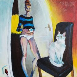 Selfportrait with Cat IV by Stardust-Splendor