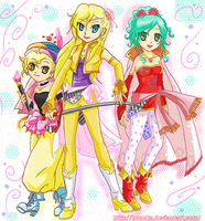 Relm, Ceres and Tina by Honoka