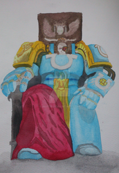 Space Marine (Watercolors) by Nepth