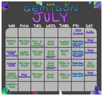 Gemigon July 2016 Calendar by catdoq