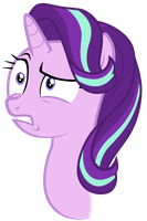 Starlight Glimmer looks disturbed at Sunset by Tardifice