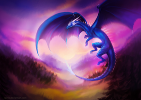 Blue dragon by Raxrie