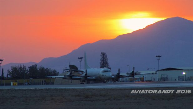 P-3 Orion at Sunrise by AviatorAndy