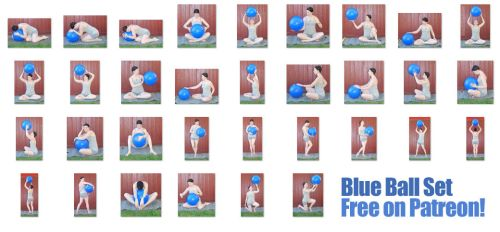 Blue Ball Set - FREE NOW! on Patreon by SenshiStock