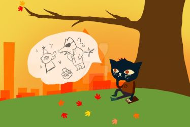 Night In The Woods by CreepyKittenNo1