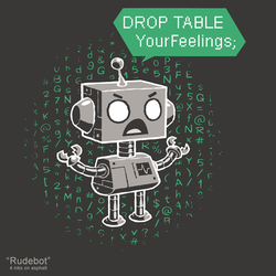 Rudebot - tee by InfinityWave