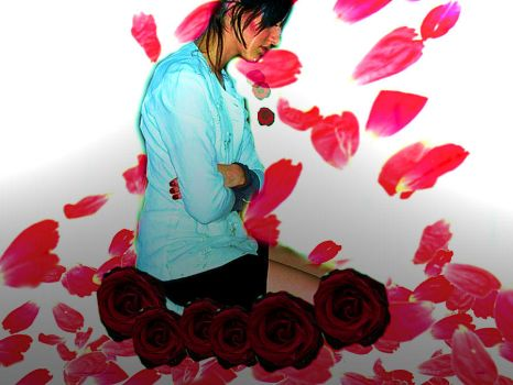 Turn your tears to Roses by cilen-chii