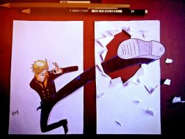 Sanji 3D Drawing by Iphy-Alzelvin