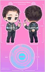 :D:BH: Connor RK800 Keychain n Standy by PrinceOfRedroses