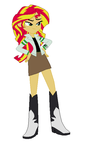 Sunset Shimmer Dressed as Ben 10 by TheWalrusclown