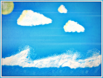 Sea and Sun // My first 'Digital Drawing' !! :D by ChrisFR06