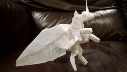 Origami Alicorn by taerkitty