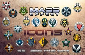 Mass Effect Icons by DoggyCorner