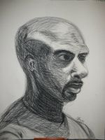 Life Drawing 3 - Bald Guy by artisticTaurean